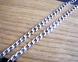 Серебряная черненая цепочка панцирь 0