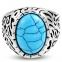 Коктейльное кольцо с бирюзой 316 Steel 0
