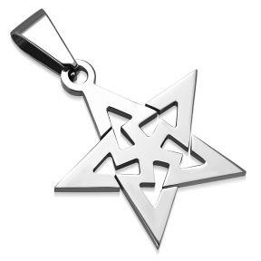 Кулон пятиконечная звезда 316 Steel