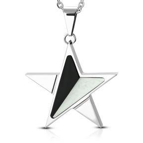 Кулон двухцветная звезда 316 Steel