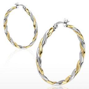 Серьги кольца (конго) Spikes