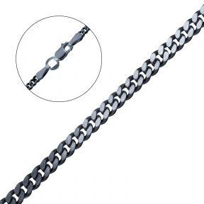 Панцирная черненая серебряная цепочка