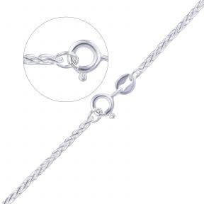Серебряная женская цепочка плетение колосок