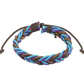 Кожаный браслет разноцветный Spikes