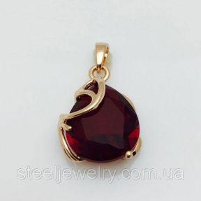 Кулон с красным фианитом Fallon Jewelry