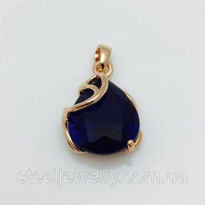Кулон с синим фианитом Fallon Jewelry