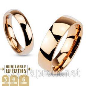 Кольцо обручальное цвет розовое золото, нержавеющая сталь 316L Spikes (США)