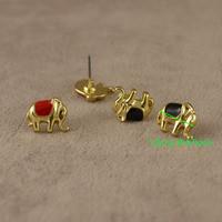 Серьги-гвоздики женские, золотое покрытие