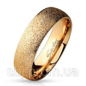 Обручальное кольцо из нержавеющей стали песочное 316L Spikes (США)