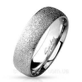 Обручальное кольцо из нержавеющей стали песочное серебристое 316L Spikes (США)