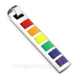 Кулон радуга символ ЛГБТSpikes