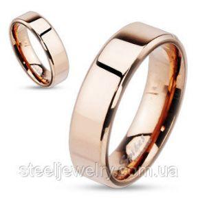 Кольцо обручальное американка розовое золото нержавеющая сталь 316L Spikes