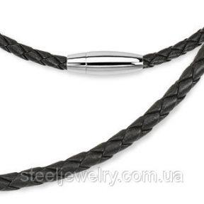 Черный кожаный шнурок