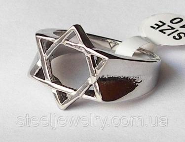 Кольцо звезда давида нержавеющая сталь 316L Spikes (США)