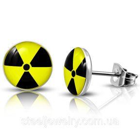 Серьги гвоздики радиация 316