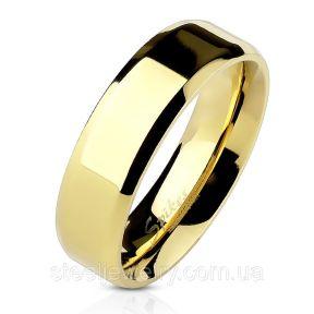 Кольцо обручальное американка желтое золото нержавеющая сталь 316L Spikes