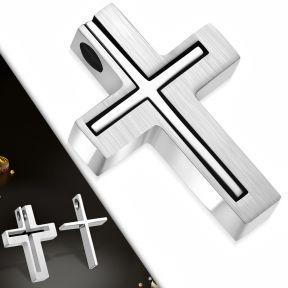 Кулон двойной крест пазл 316 Steel