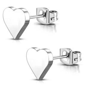 Серьги гвоздики сердечки 316 Steel JES702